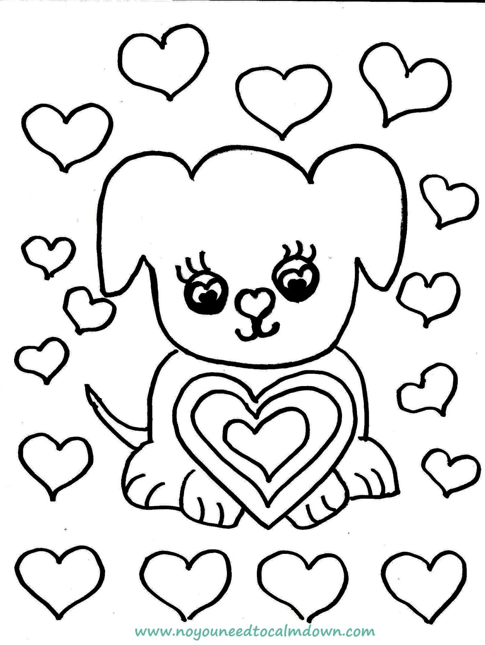 Cute Dog Valentine S Day Coloring Page Free Printable No You Need To Calm Down Valentines Day Coloring Page Valentine Coloring Sheets Valentine Coloring Coloring Home