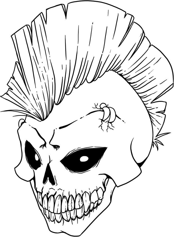 sugar skull. pictures skull coloring pages 27 in coloring print ...