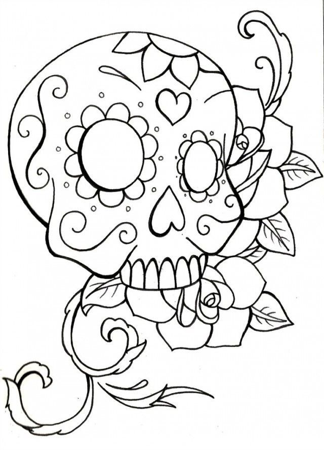 Sugar Skull Owl Coloring Pages