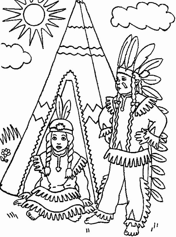 Native Americans At Thanksgiving Coloring Pages - Coloring ...