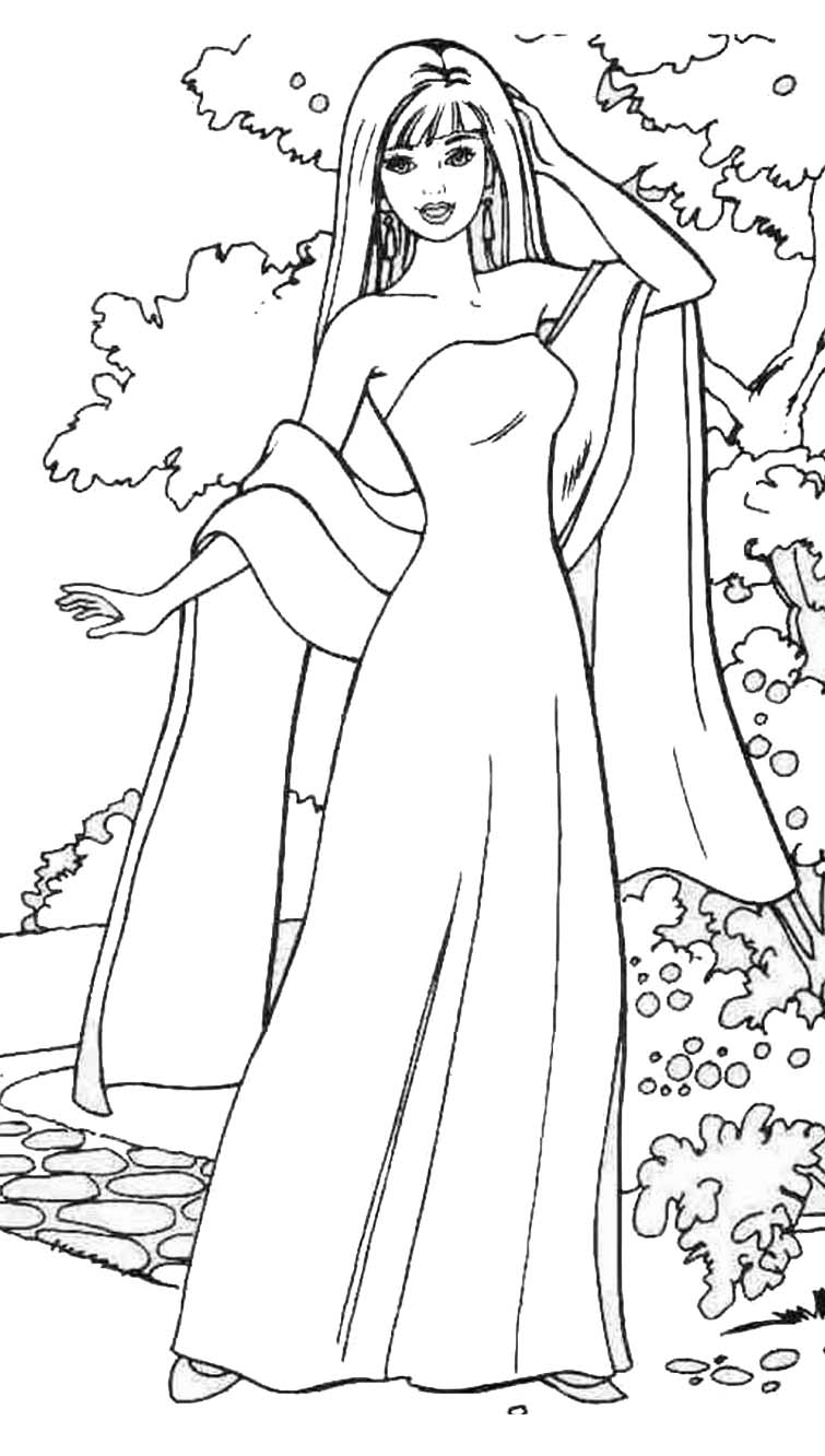 Fashion coloring pages for girls printable az coloring pages for Fashion coloring pages to print