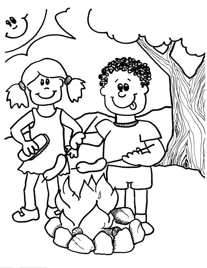 Church Camping Coloring Pages - Coloring Pages For All Ages