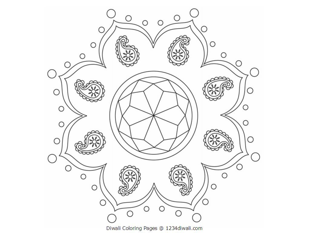 diwali coloring page coloring home