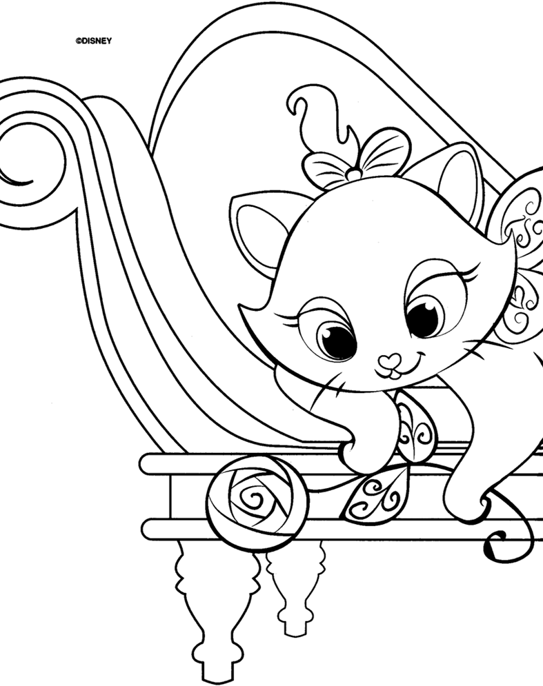 Marie Cat Coloring Pages Coloring