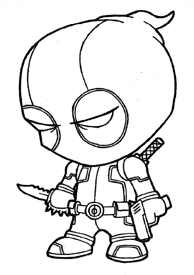 Coloring pages of deadpool coloring home for Deadpool printable coloring pages