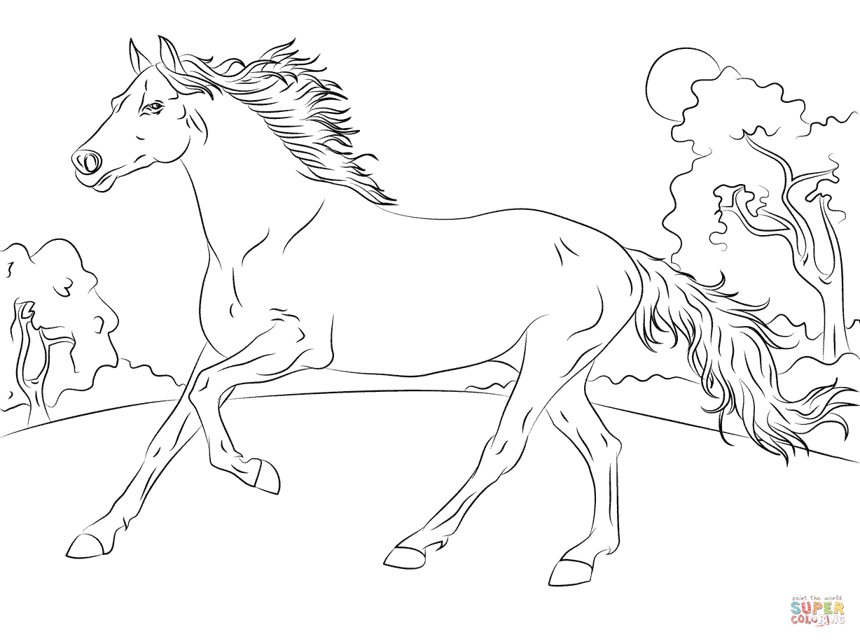 Coloring Pages For Girls Horse Free - Coloring Home