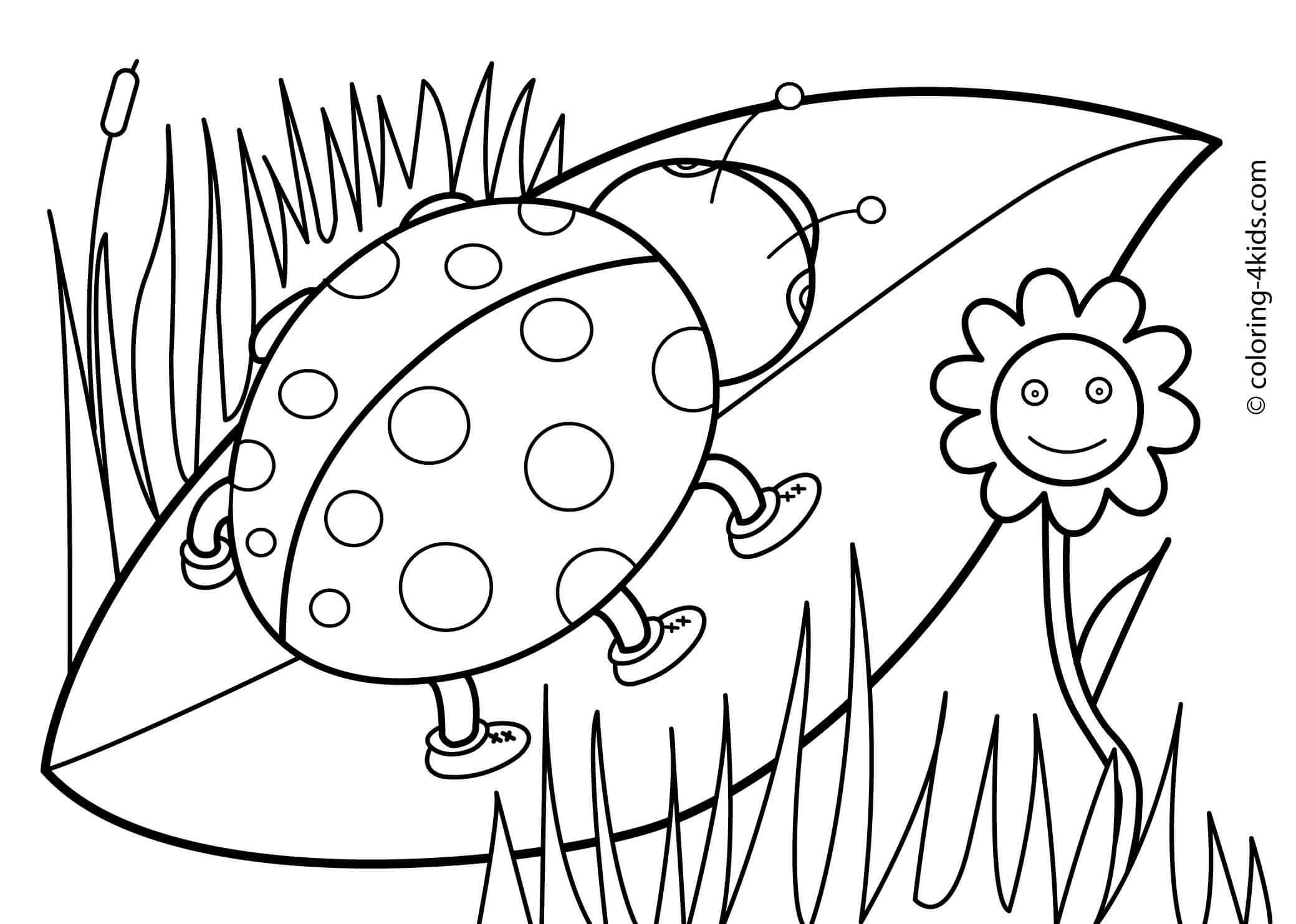 Spring Landscape Coloring Pages - Coloring Home