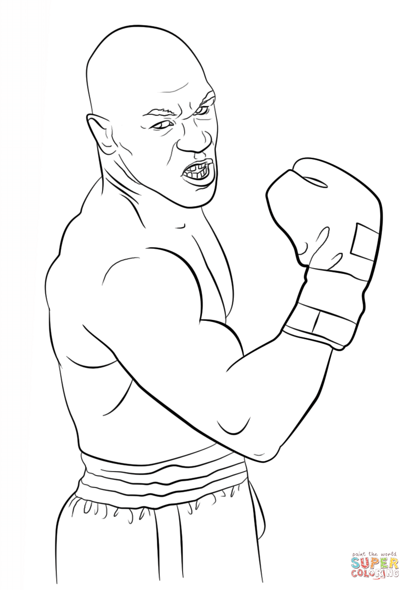 Olympic Boxing Coloring Pages