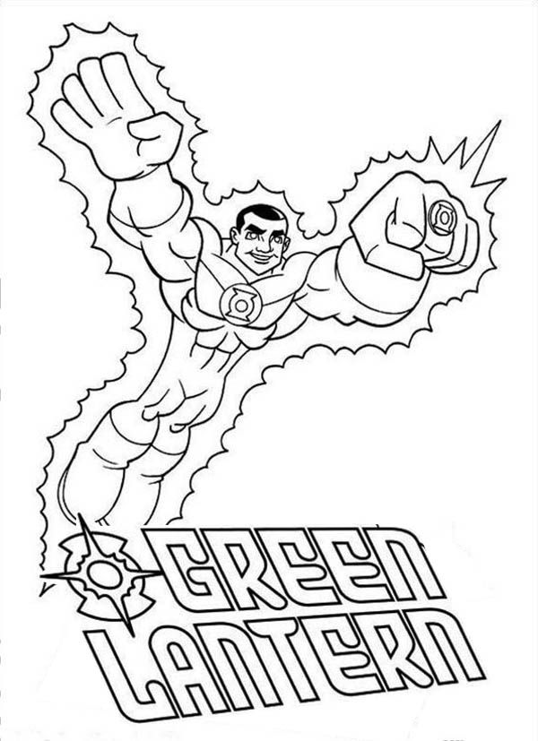 Green Lantern Coloring Page Free Printable Coloring Pages For