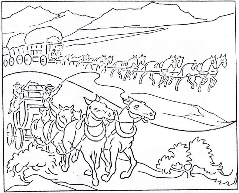 prioneer coloring pages - photo#10