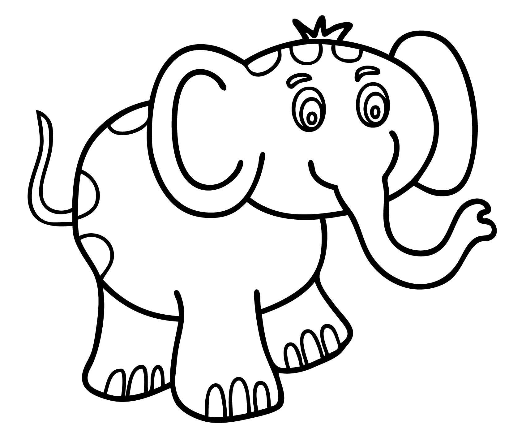 Easy coloring pages for toddlers - A Coloring Pages For Toddlers 3 Fish Colouring Pages For Toddlers