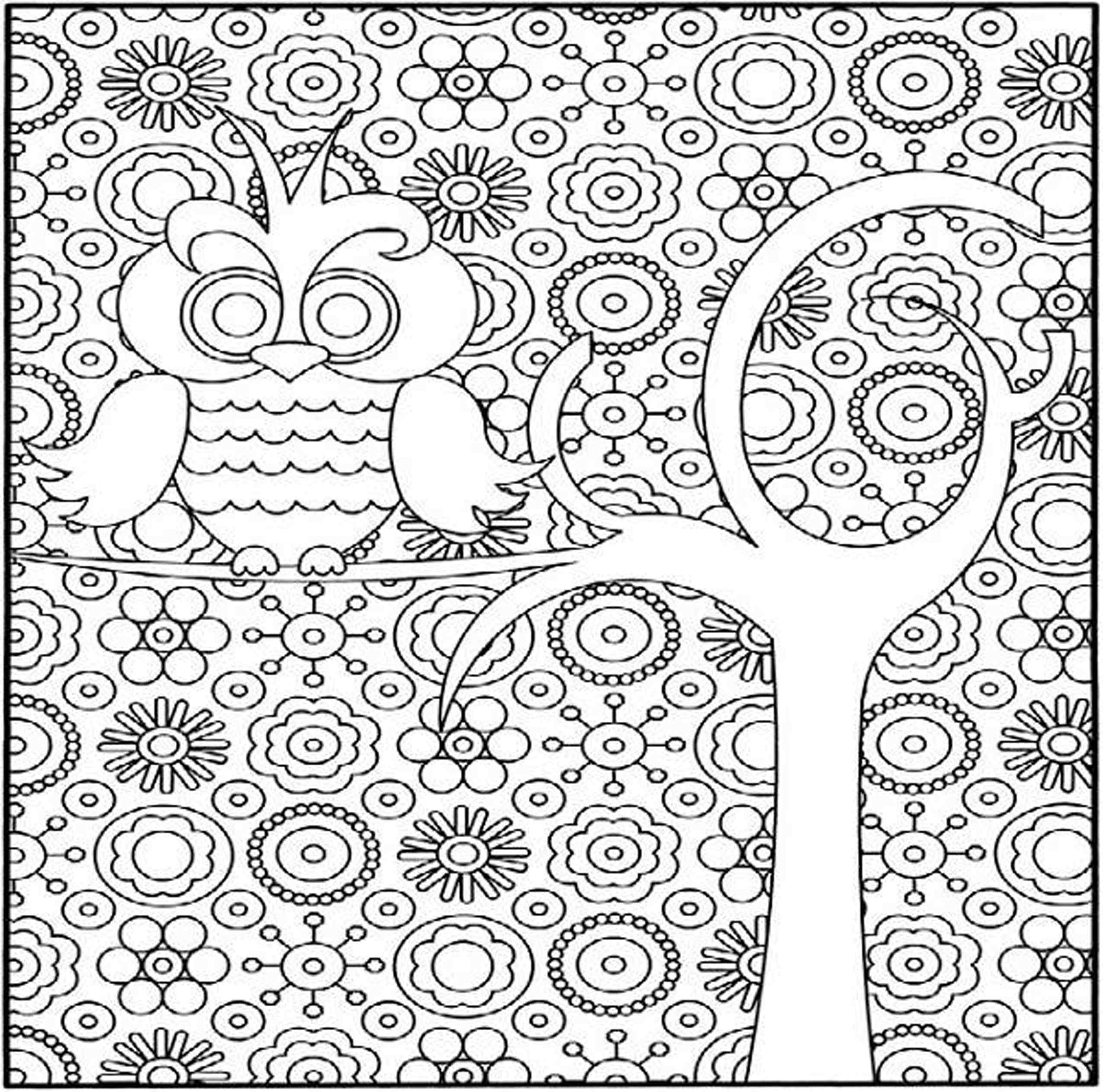 girl difficult coloring pages - photo#1