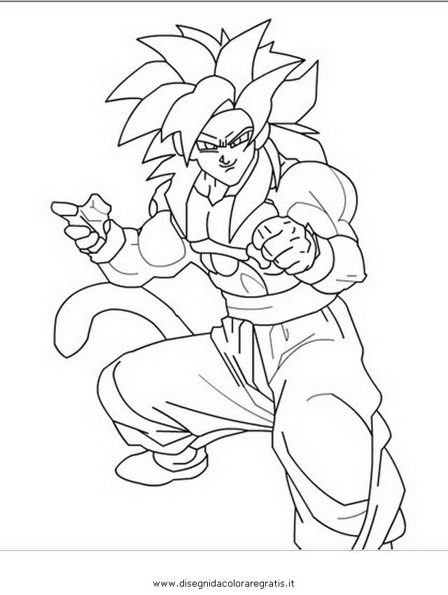 Dragon Ball Z Ss4 Coloring Pages