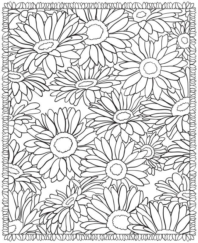 best photos of advanced coloring pages flowers flower designs - Advanced Coloring Books