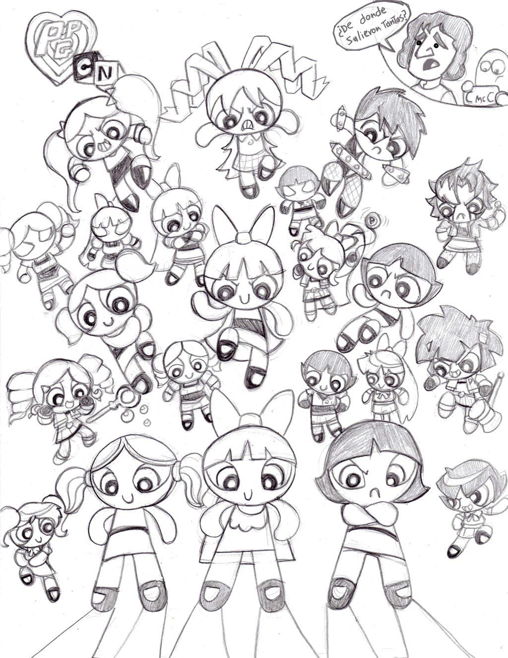 Adult Cute Powerpuff Girls Z Coloring Pages Images cute power puff girls z coloring pages az free printable powerpuff for kids images