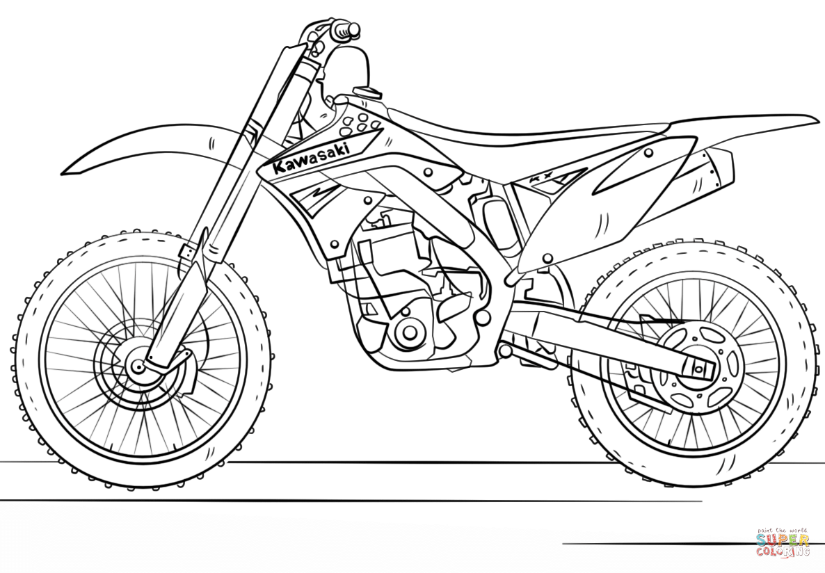 Disegni Motocross: Motorcross Coloring Pages