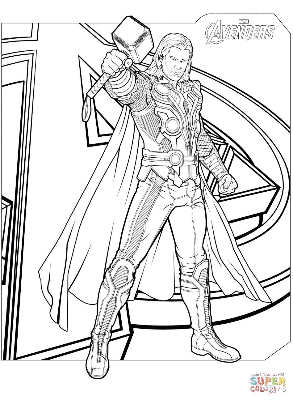 Free Printable Coloring Pages Avengers