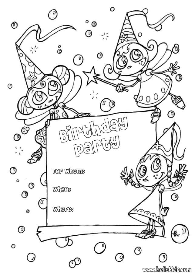 Coloring Pages Birthday Cards Moms Printable