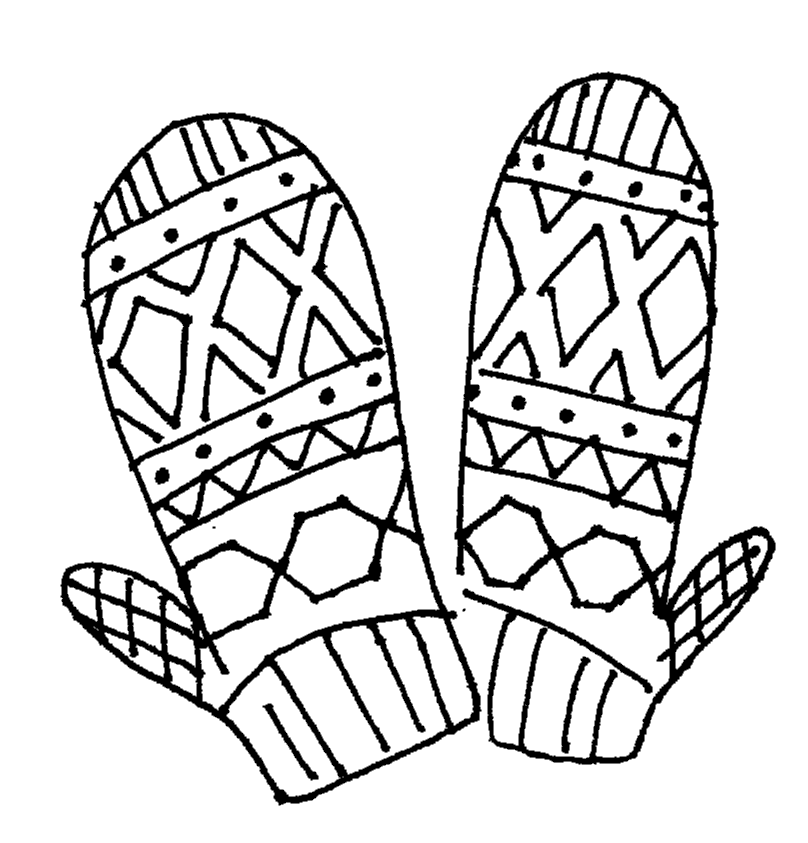Mitten Coloring Page - Coloring Home