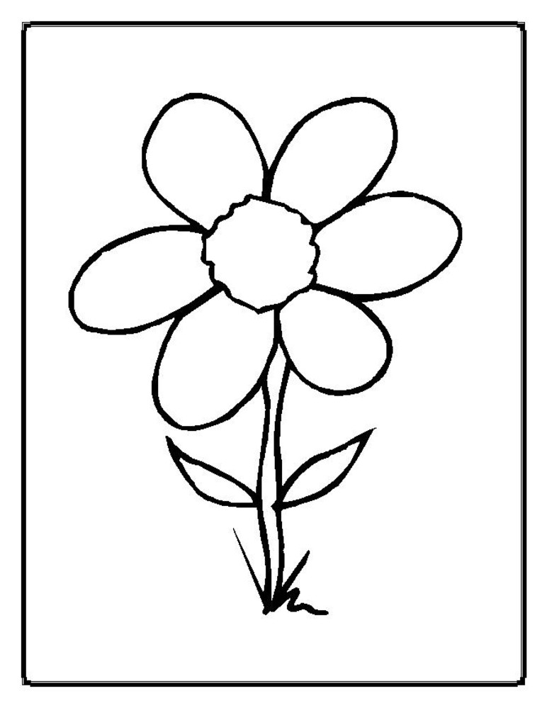 Parts of a flower coloring page az coloring pages for Parts of a flower coloring page