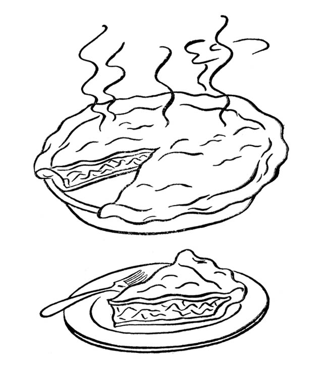 Pumpkin Pie Coloring Page Az Coloring Pages Pie Coloring Page