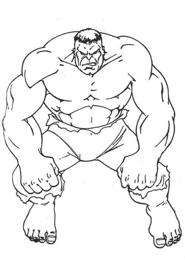 Incredible Hulk Coloring Pages For Kids | My image Sense