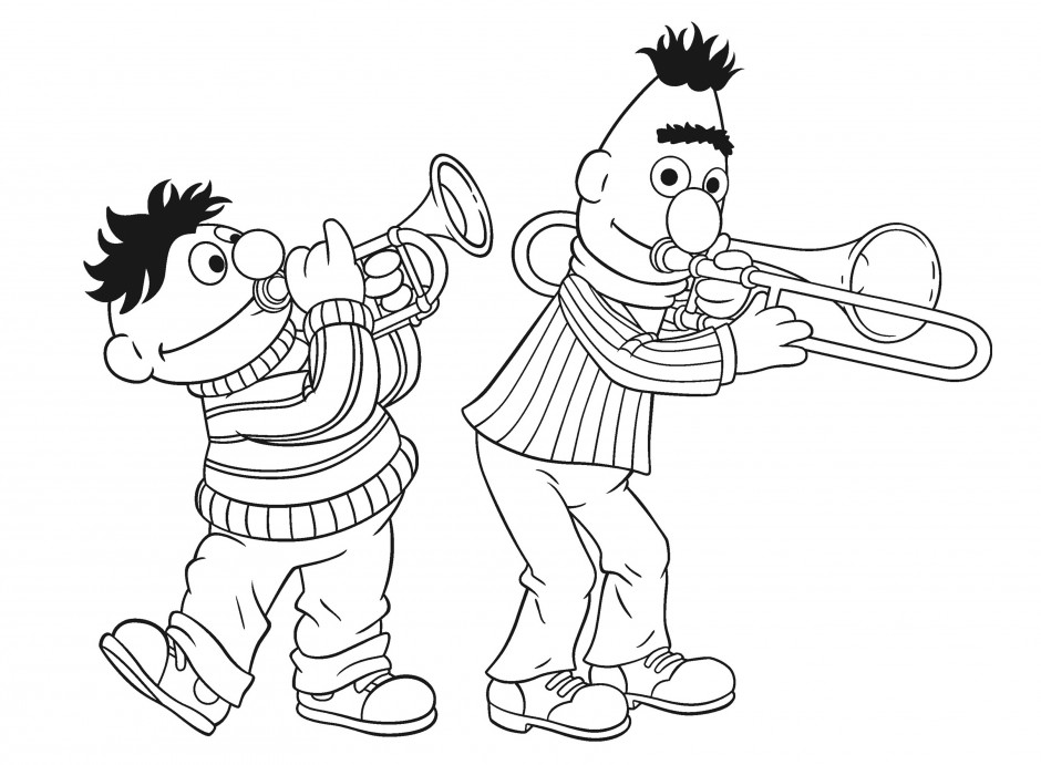 bert and ernie coloring pages - photo#22