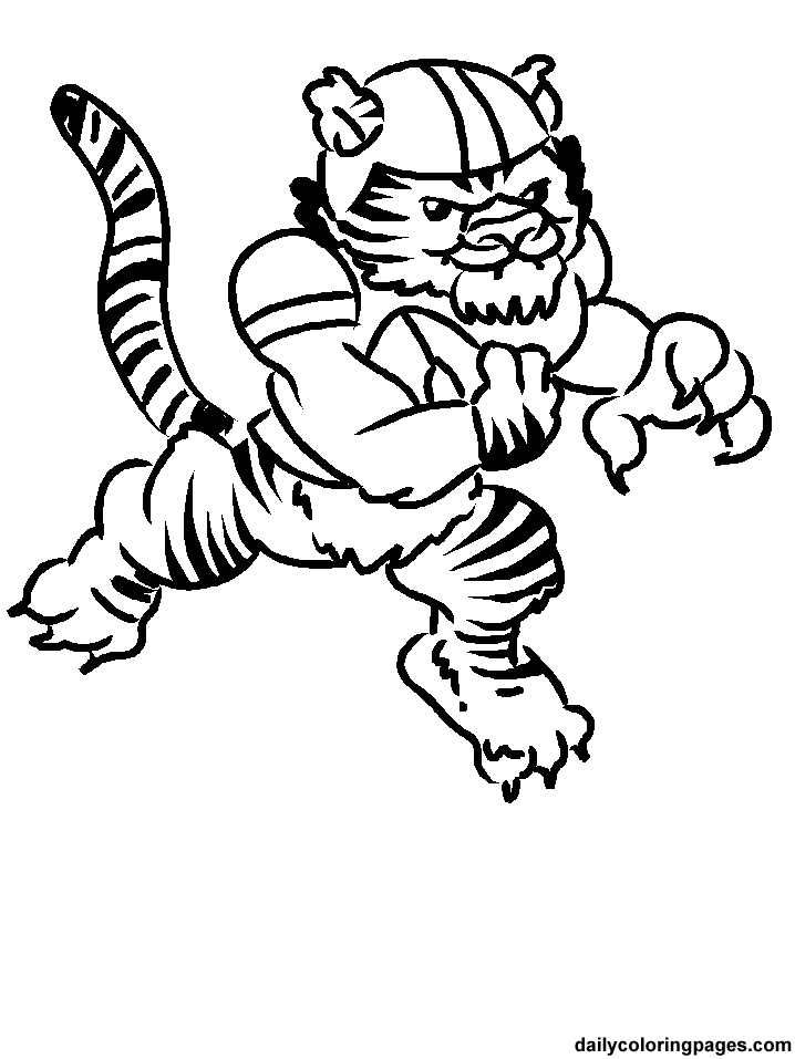 football mascot coloring pages - photo#26