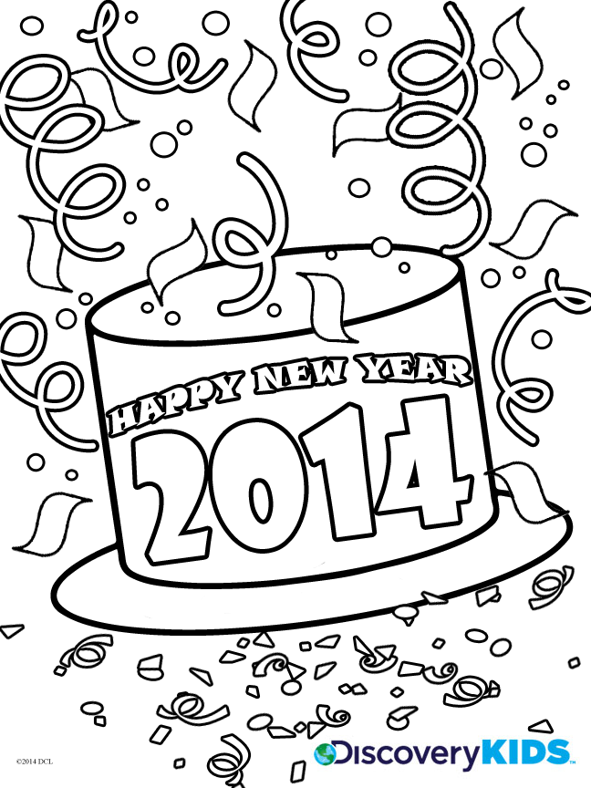 happy new year coloring pictures coloring home