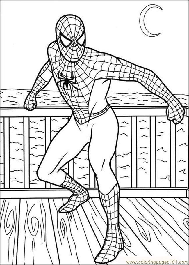 Printable Spiderman AZ Coloring