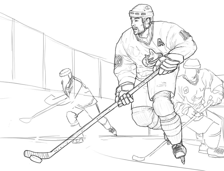 Printable hockey coloring pages az coloring pages for Ice hockey coloring pages