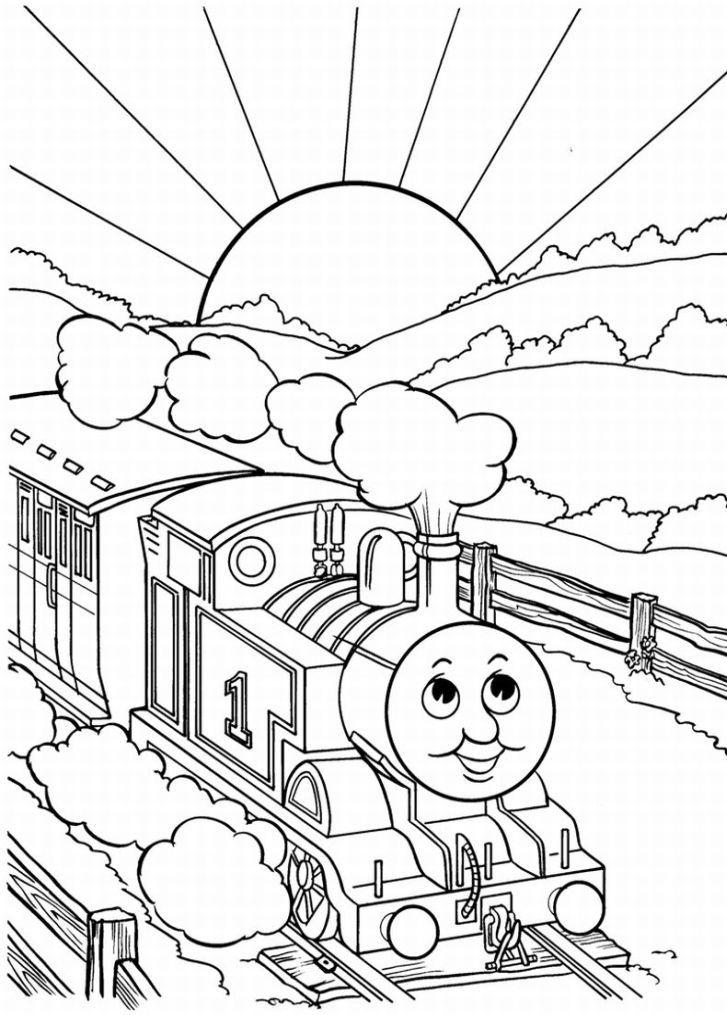 Free thomas the train coloring pages coloring home for Train coloring book pages
