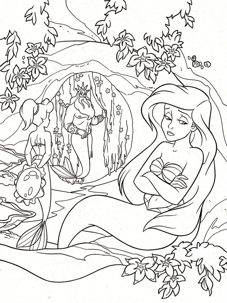 king triton coloring pages - photo#24