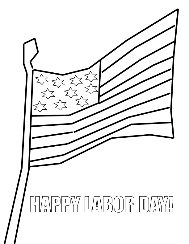 happy labor day coloring pages - photo#34