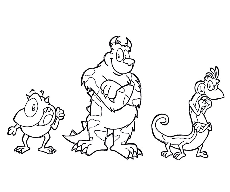 free monsters university coloring pages - photo#9