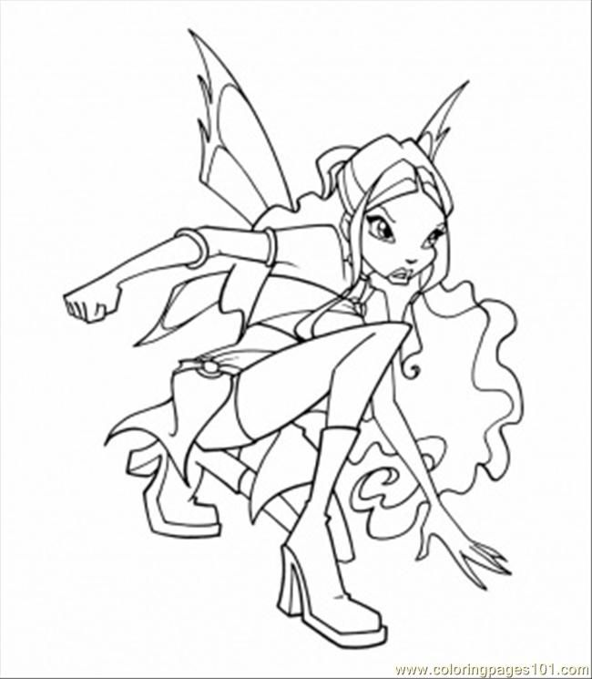 Winx Coloring Pages Pdf : Winx club layla colouring pages coloring home