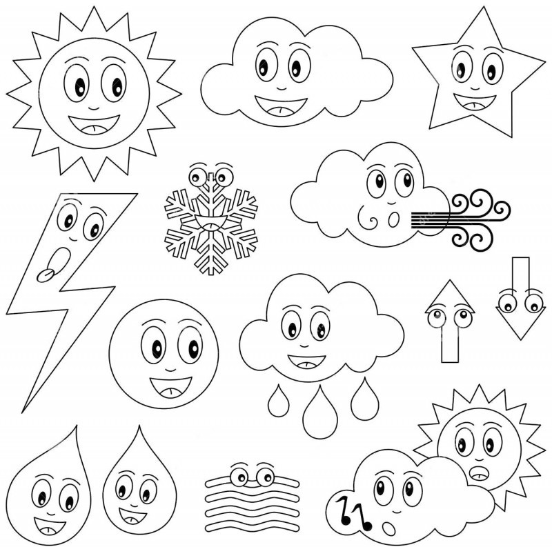 Weather coloring pages printable az coloring pages for Coloring pages weather