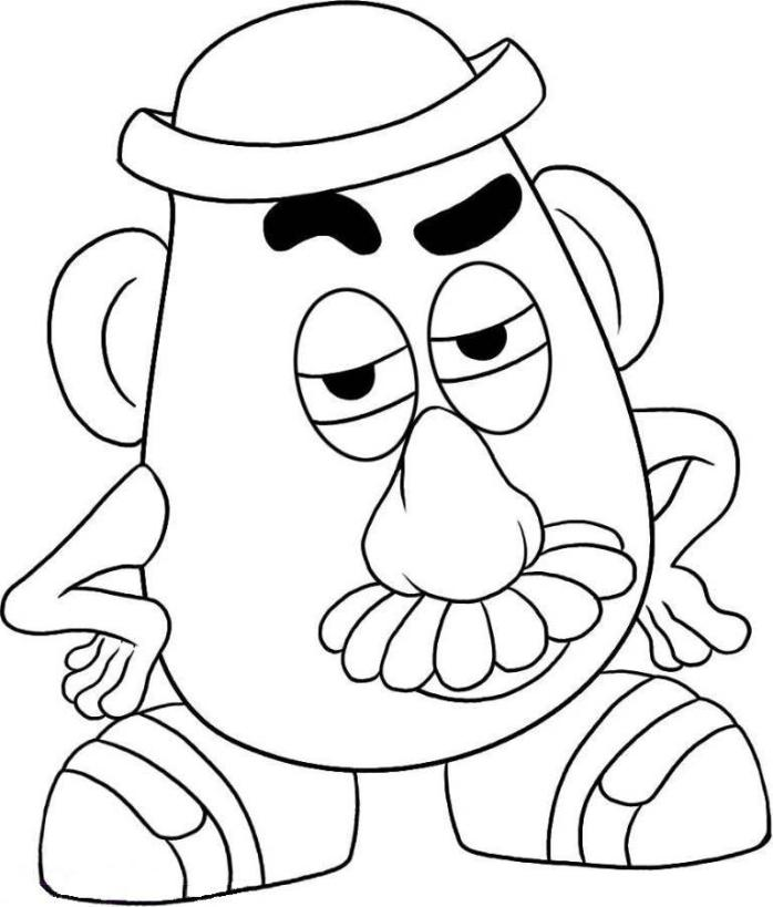 Print Mr Potato Head Toy Story Coloring Page Or Download