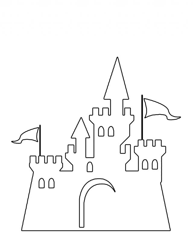 Cinderella Castle Coloring Pages