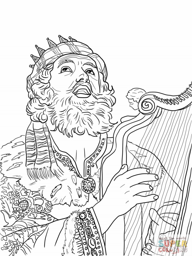 king david in the bible coloring pages | Bible David As King Coloring Pages Sketch Coloring Page