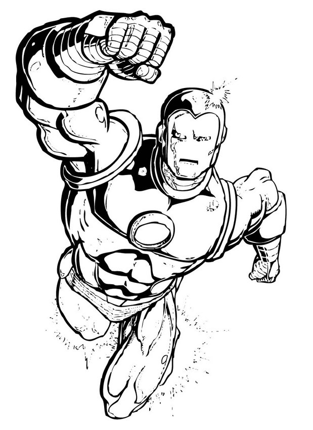 free superhero squad coloring pages - photo #16