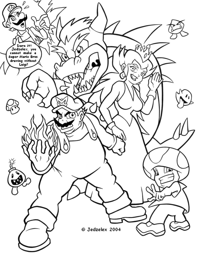 coloring pages nintendo characters - photo#42