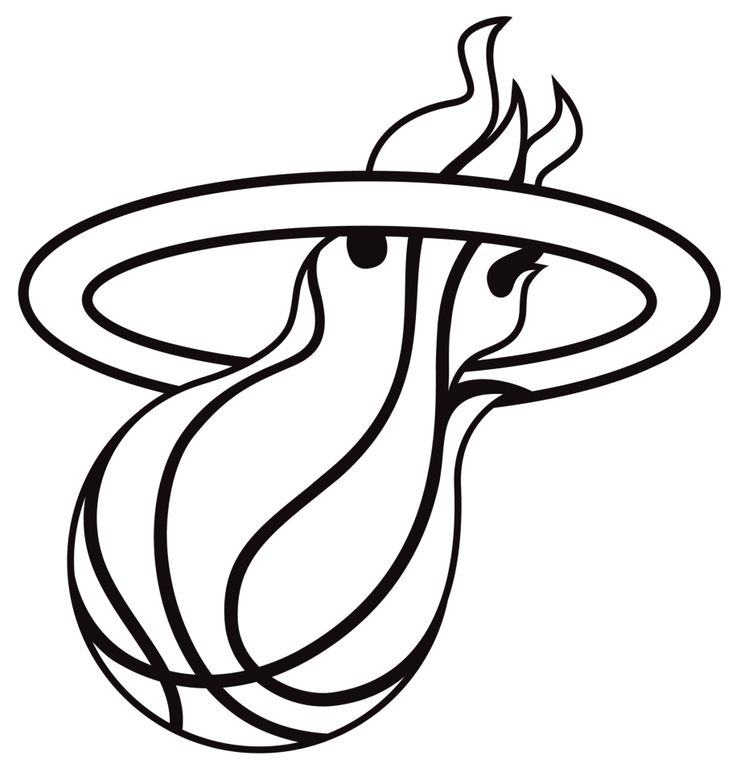 miami heat coloring page - Google Search | Books Worth Reading | Pint…