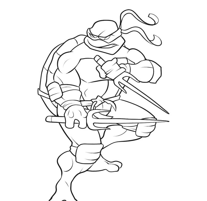 Coloring Pages For Teenage Mutant Ninja Turtles : Teenage mutant ninja turtles coloring page az pages
