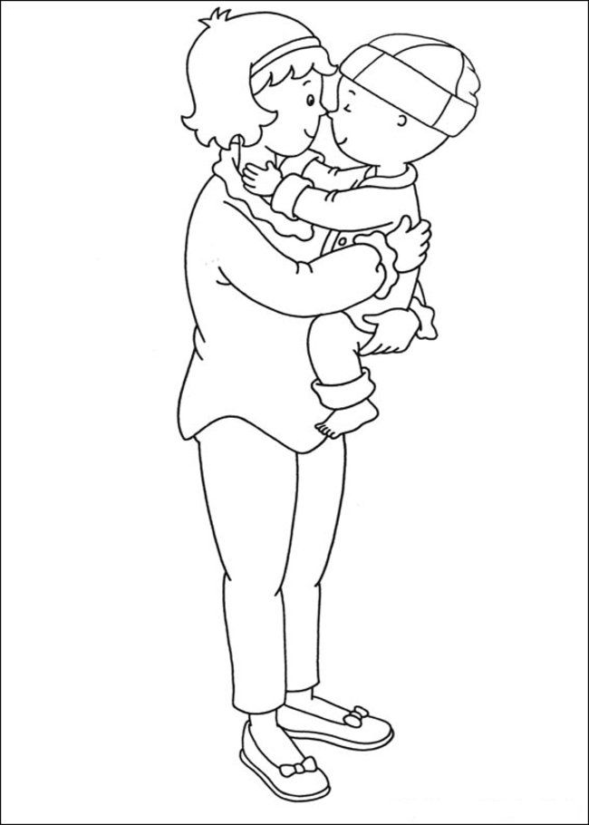 Caillou Coloring Pages Online - Picture 28 – Free Printable