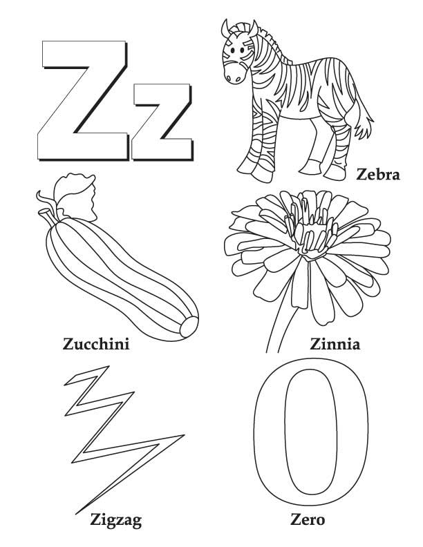 Letter z coloring pages coloring home for Coloring pages a to z