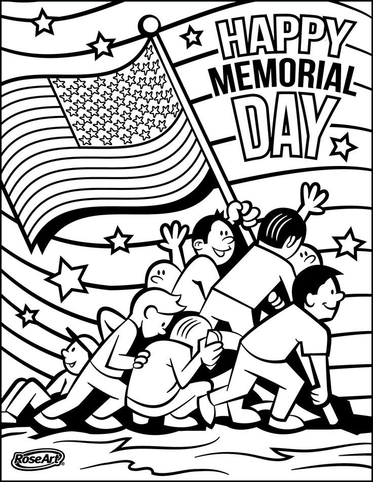 Pledge of allegiance coloring page az coloring pages for Memorial day coloring pages for kids