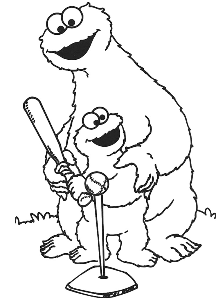 Elmo and cookie monster coloring pages az coloring pages for Elmo and cookie monster coloring pages to print
