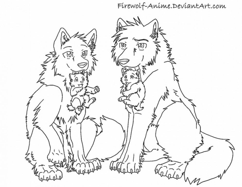 pack of dogs coloring pages - photo#8