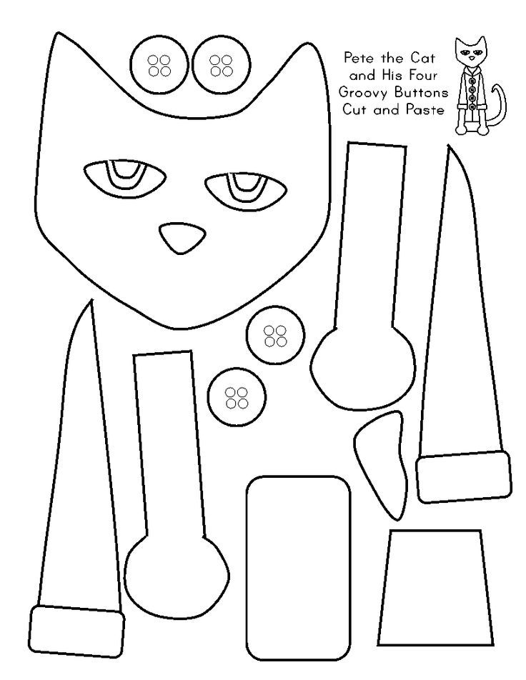 Pete The Cat Printables Coloring